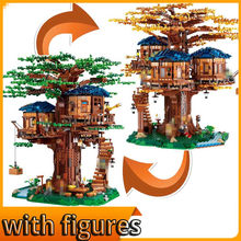 New Tree House The Biggest Ideas legoinglys 21318 Model Building Blocks Bricks My World Kids Educational Toys Gifts(China)