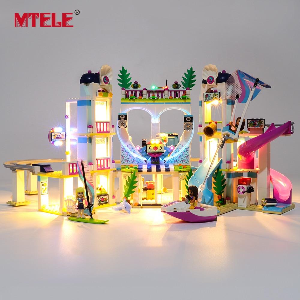 MTELE Brand LED Light Up Kit For 41347 Friends Series Heartlake City Resort Lighting Set Compatile With 01068/37086/11035