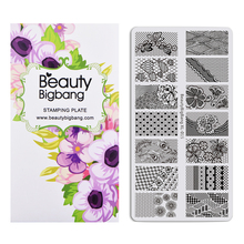 Nail-Stamping-Plate Flower-Theme Manicure Floral-Patterns Beautybigbang Lace Summer
