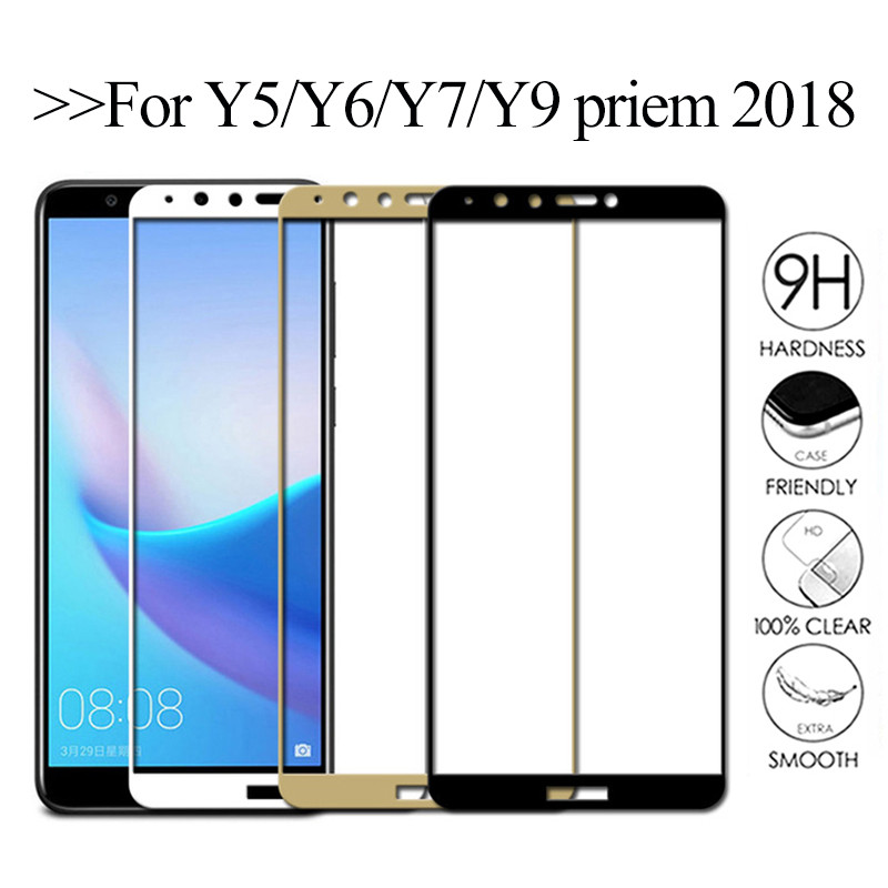 Protective <font><b>glass</b></font> for <font><b>huawei</b></font> y9 y7 y6 y5 <font><b>prime</b></font> <font><b>2018</b></font> screen protector <font><b>tempered</b></font> armor <font><b>y</b></font> 5 <font><b>6</b></font> 7 9 on huavei hauvei 6y 7y 9y y6 <font><b>prime</b></font> image