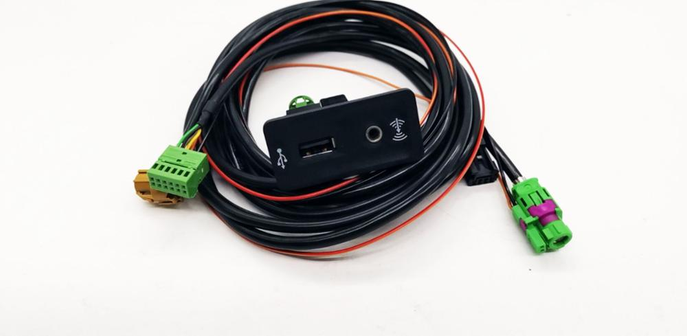 For Golf 7 MK7 CARPLAY USB AUX CarPlay MDI USB AMI Install Plug Socket Harness 5QD035762E/J 5G0035222F /E 5G0 035 222(China)