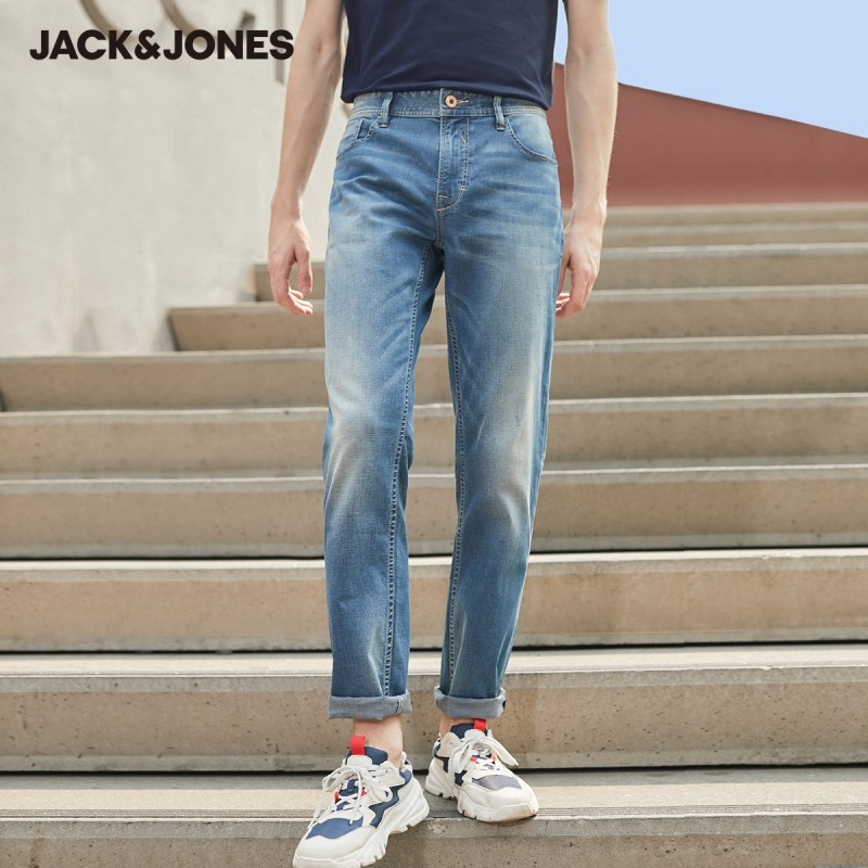 JackJones Men's Spring & Summer Slim Fit Stretch Graphene Jeans Menswear| 220132579