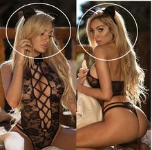 Erotic Lingerie Sexy Costumes Lace Siamese Babydoll Exotic Underwear Cat Girl Sexy Tight Lingerie Adult Products Plus Size XXXL cheap Spandex WOMEN HUA1122 Print Black Average code Cute Girl Style Bread dressing female Entire bill Southeast Asia Europe Middle East North and South America