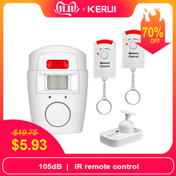 KERUI домашняя охранная сигнализация PIR оповещение инфракрасный Противоугонный детектор движения монитор Беспроводная сигнализация с пульт...