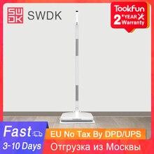 2020 nuovo SWDK D260 lavaggio elettrico per la casa tergicristallo senza fili portatile lavavetri macchina aspirapolvere scopa bagnata