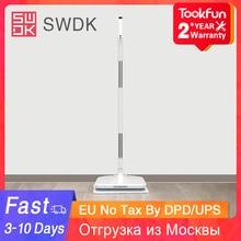 2020新swdk D260電気家庭用ハンドヘルドワイヤレスワイパー掃討階の窓ワッシャーウェットほうき掃除機