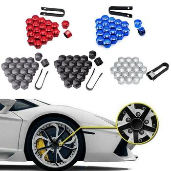 20pcs 21mm Car Tyre Wheel Hub Covers Protection Caps Dust Nuts Nut Rim Bolt Caps Screw Hub Wheel Protector Proof Covers M1Y1 image