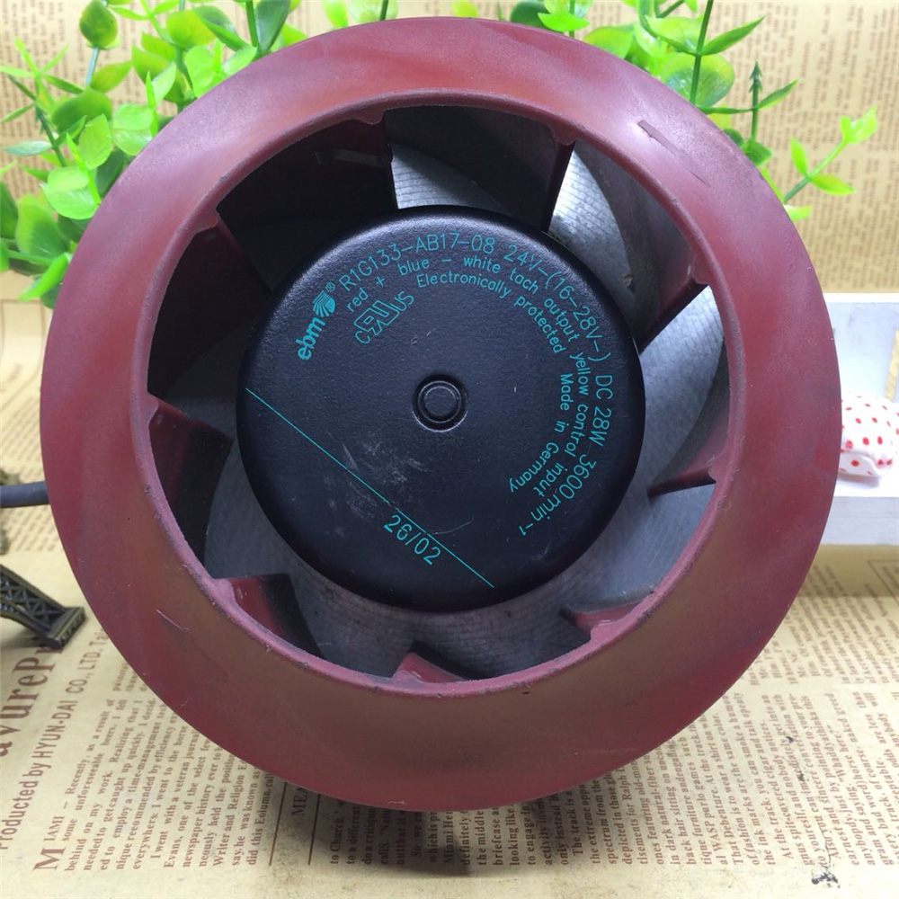 Original EBM R1G133-AB17-08 DC24V 28W 13.3cm Centrifugal Fan Air Blower