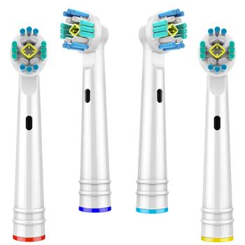 4 szt Wymienne główki do szczoteczki do zębów oral-b główki szczoteczek do zębów Advance Power Pro Health elektryczne głowice do szczoteczek do zębów tanie i dobre opinie EB18-P toothbrush heads Other Szczoteczki do zębów głowy 4 pcs Dorosłych 4 pcs toothbrush heads D4510 D12013 D12013W D12523 D16513 D16523 D17525 D18 D19 D20523
