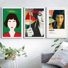 Amelie película clásica arte pintura Vintage lienzo cartel pared decoración para el hogar
