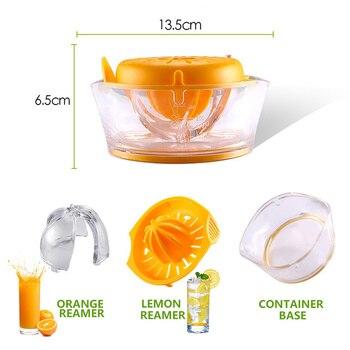 Manual Squeezer Press Mini Fruit Juicer Machine Plastic Orange Lemon Squeezers Citrus Lime Juice Maker Home