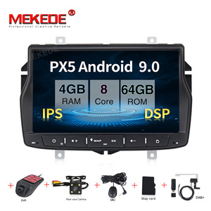 Image 1 - Russian menu free shipping 4G RAM 1din car radio multimedia DVD player for Lada vesta Android 9.0 Octa core with wifi BT GPS