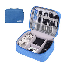New Travel Cable Bag Portable Digital USB U disk Gadget Organizer Charger Wires Box replenisher bag Accessories XYLOBHDG