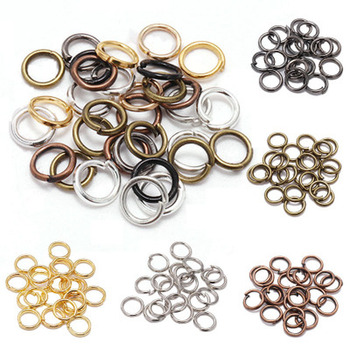 Metal Jump Rings Gold Split Rings Connectors For Diy Jewelry Finding Making Accessories 200pcs/lot 4 5 6mm image