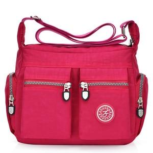 Image 2 - 2020 여성 가방 새로운 방수 어깨 & crossbody 가방 지퍼 나일론 패션 크로스 여행 여성 메신저 가방