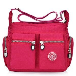 Image 2 - 2020 womens bags new waterproof  shoulder & crossbody bags zipper nylon fashion cross travel  womens messenger bag