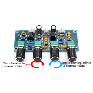 Image 3 - Digital Verstärker Bord NE5532 Ton board Preamp Pre amp Mit Höhen Bass Volumen Einstellung Pre verstärker Ton Controller