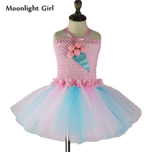 Image 2 - Kids Candy Color Ruched Ice cream tutu dress costume baby girls brithday party dresses Princess dresses girl vestidos PQ255