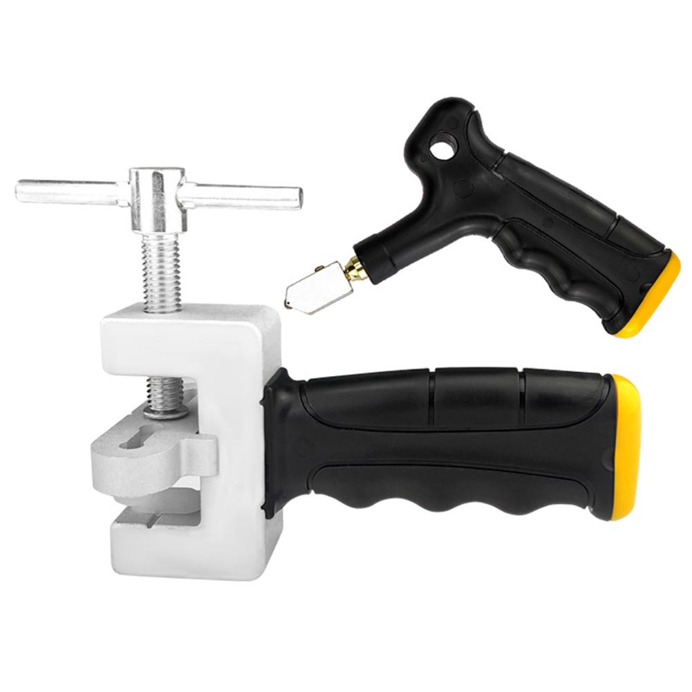 Multi-functional Glass Cutter Hand Grip Roller Labor-saving Ceramic Cutting Tools With Spare Cutter Heads Standby Footpads