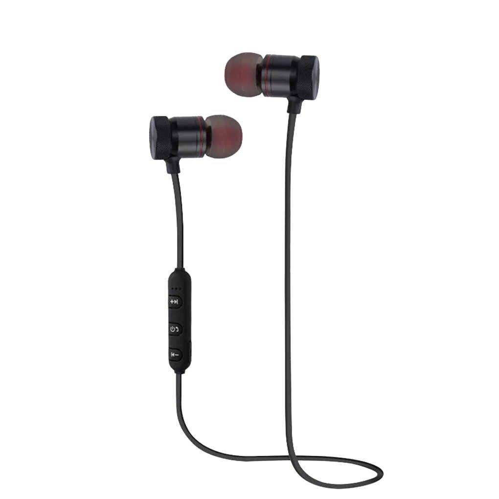 Brand New Bluetooth 4.1 magnetyczny bezprzewodowy zestaw słuchawkowy Bluetooth Stereo sport wodoodporne słuchawki douszne bezprzewodowa słuchawka douszna z mikrofonem