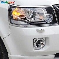 Para Land Rover Freelander 2 2012-2015 ABS Car Frente Chrome Cabeça de Luz Da Lâmpada Do Farol Capa Guarnição Guarnições Moldura styling Acessórios