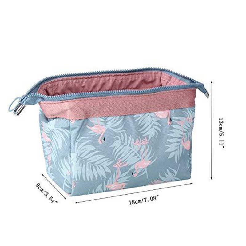 Baru Tiba Flamingo Tas Kosmetik Wanita Necessaire Membuat Tas Berkualitas Tinggi Tahan Air Portable Makeup Casing Perlengkapan Mandi Kit