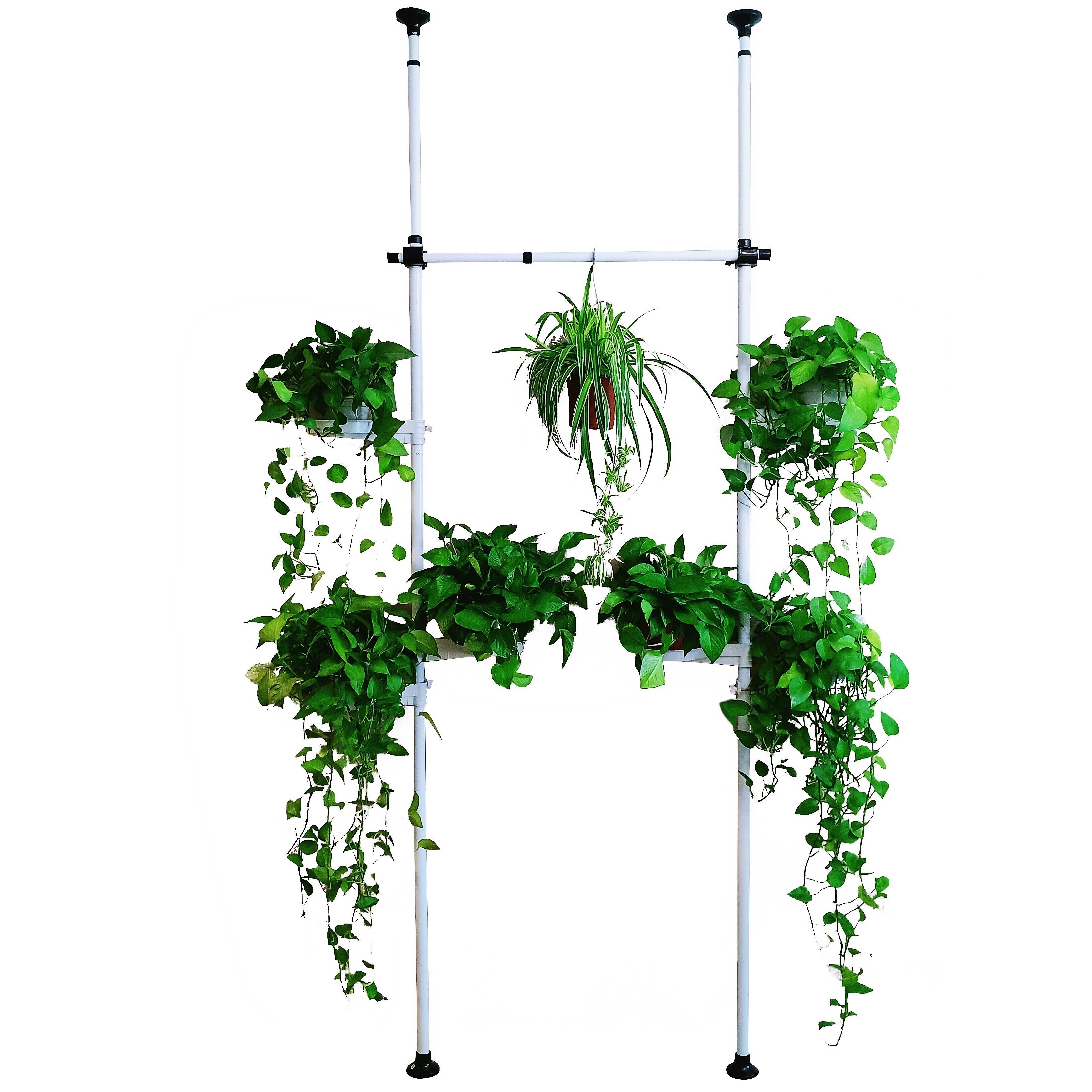 Assemble Vertical Pole Three-dimensional Flower Rack Multi-storey Green Radish Meat Telescopic Rod Flowerpot Frame Adjustable