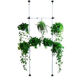Złożyć pionowy słup trójwymiarowy stojak na roślinę doniczkową wielokondygnacyjny zielony rzodkiewka mięso drążek teleskopowy doniczka rama regulowana w Półki dla roślin od Meble na