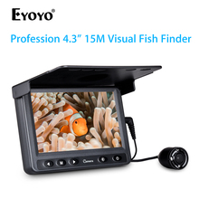 Eyoyo Underwater Ice Video Fishing Tools Camera 4.3 inch LCD Monitor 720P Night View Fish Camera 15m Cable Ice Fish Finder 20m professional fish finder underwater fishing video camera monitor 150 degree angle 4 3 inch lcd monitor with 20m cable new