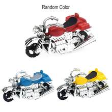 Kids Motorcycle Pull Back Model Toy Motorbike Plastic Educational Toys For Children Montessori Development Creativity Gift(China)