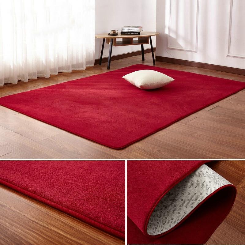 160x200cm Short-haired Coral Velvet Carpet Living Room Floor Mat Coffee Table Mat Bedroom Blanket Bed Rug Floor Mat Door Cushion