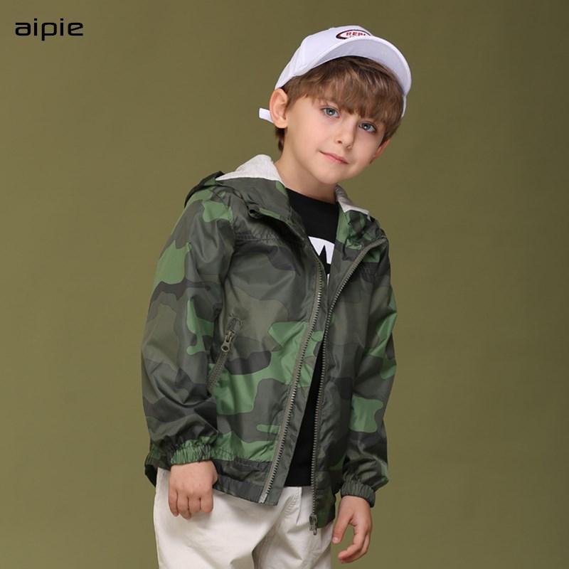 Детские камуфляжные куртки на молнии, куртки с капюшоном и принтом для мальчиков, весна 2020|Куртки и пальто| | АлиЭкспресс
