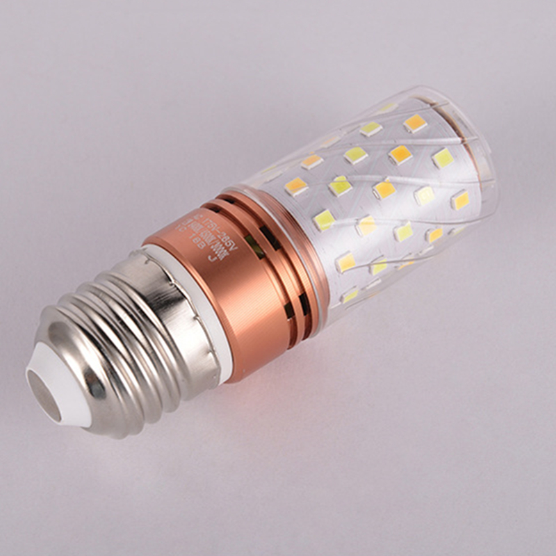 Купить с кэшбэком lamp led light two-color dimming constant current drive 16w highlight E14/E27 led corn lamp family suitable bedroom