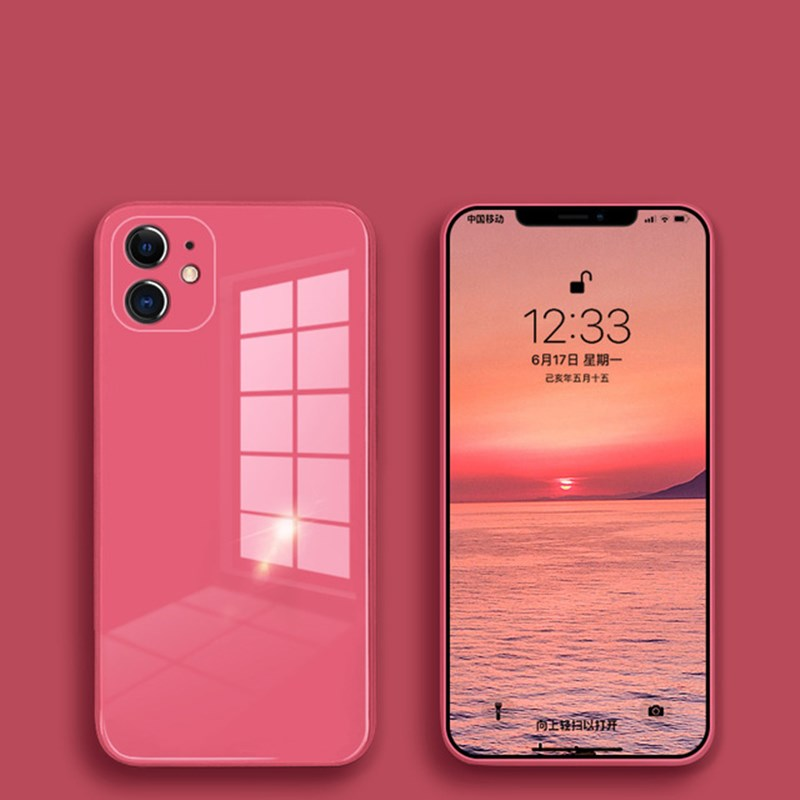 All-inclusive shatter-resistant glass Liquid silicone phone case чехол for iPhone11Pro Max SE 2020 XR XS Max X 8 7 6 PLUS Cover