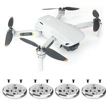 Cubierta protección de motor CNC, almohadilla de aluminio con tornillos para dji mavic mini 2, accesorios para Dron, 4 Uds.