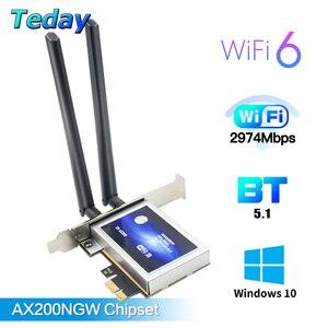 2974 Мбит/с двухдиапазонный беспроводной настольный PCIe Intel AX200 карта 802.11AX 2,4G/5 ГГц Bluetooth 5,1 PCI Express WiFi 6 адаптер для ПК