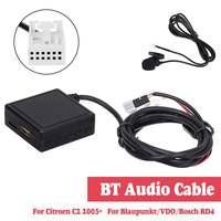 HIFI Audio Auto bluetooth 5.0 Modulo AUX Cavo del Microfono Adattatore Radio Stereo Per Citroen C2 Per Peugeot 307 408 807 1007