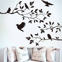 Black Birds Tree Branch Birds Handcraft Wall Sticker Decal Mural Home Decor Room Window Art Decal For Home Decoration DIY LW450 стоимость