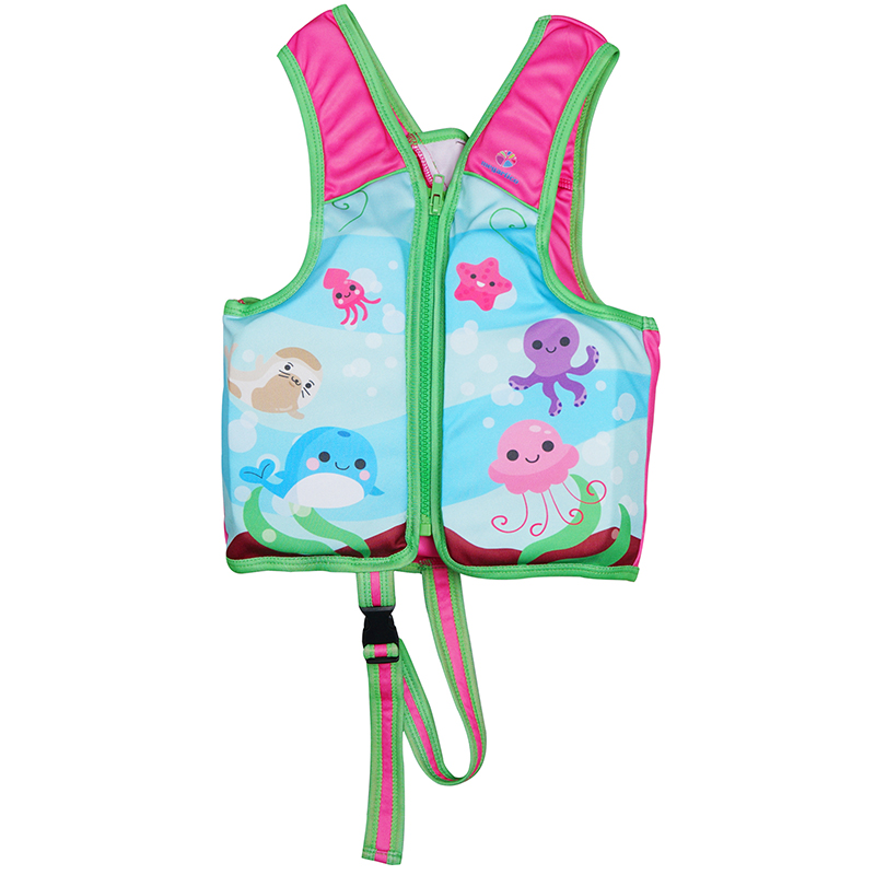 Спасательный жилет Megartico для детей; детский жилет; детская Спасательная куртка с цветочным принтом и принтом акулы; пляжный плавательный жи...