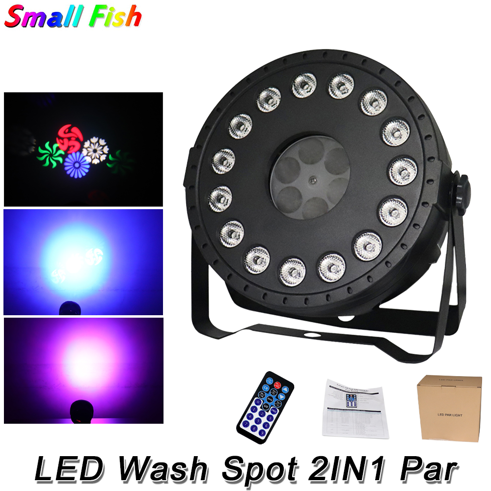 30W LED Wash Spot 2IN1 Par Light RGBW Color Lighting Strobe DMX Controller For Disco DJ Music Party Club Bar Darkening Lamp