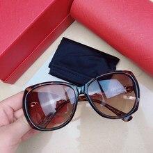Women's sunglasses CA0733S Square frame Tortoiseshell color fashion elegant Pearl leg Gradient lenses glasses