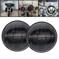 Round 4 1/2 Inch LED foglight Passing Lamps for Motorcycle Road King Road Glide Street Glide Electra Glide Ultra Limited
