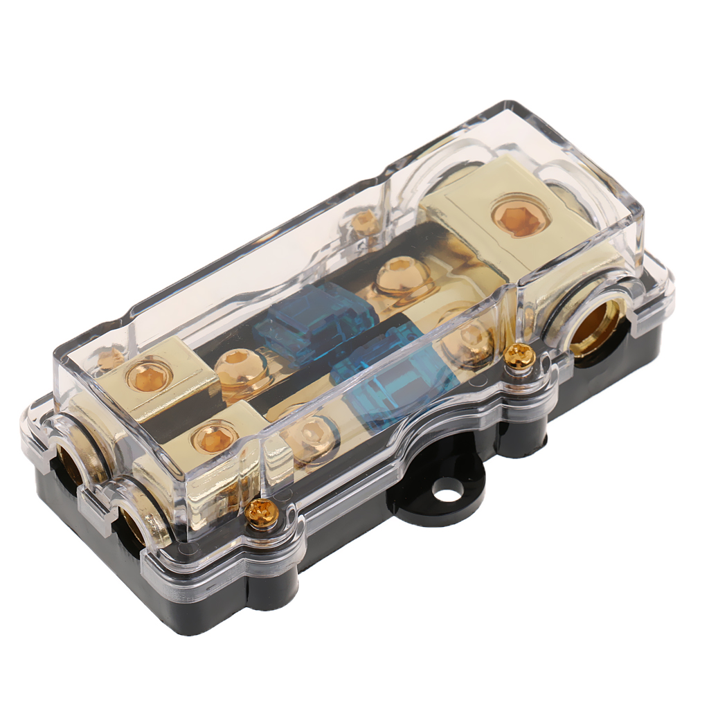 Car Audio Fuse Holder Distribution Block 3 In 2 Out Circuit Protector