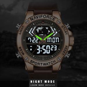 Image 2 - NAVIFORCE Uhr Männer Top Luxus Marke Leder Wasserdichte Sport herren Uhren Quarz Analog Digital Uhr Männlich Relogio Masculino