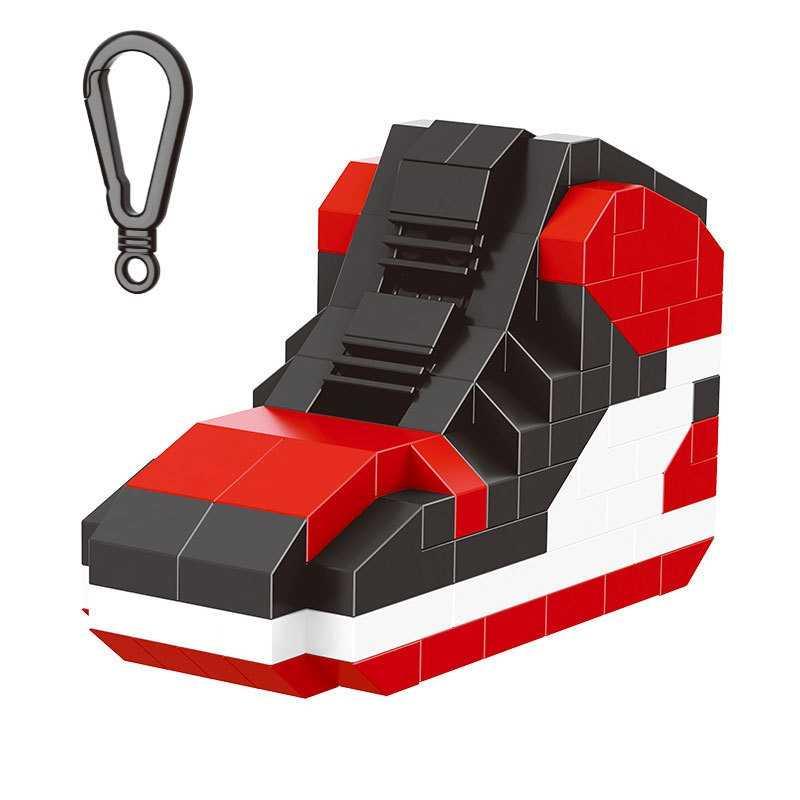Мини-блоки DIY спортивная модель обуви брелок строительный кирпичный блок игрушка для детей аксессуары брелок украшение подарок на день рождения