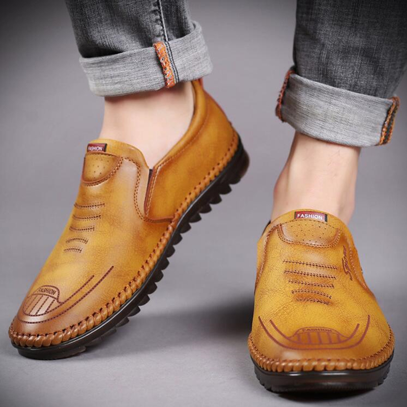 Купить мужская обувь из натуральной кожи; мужские дышащие туфли лоферы;