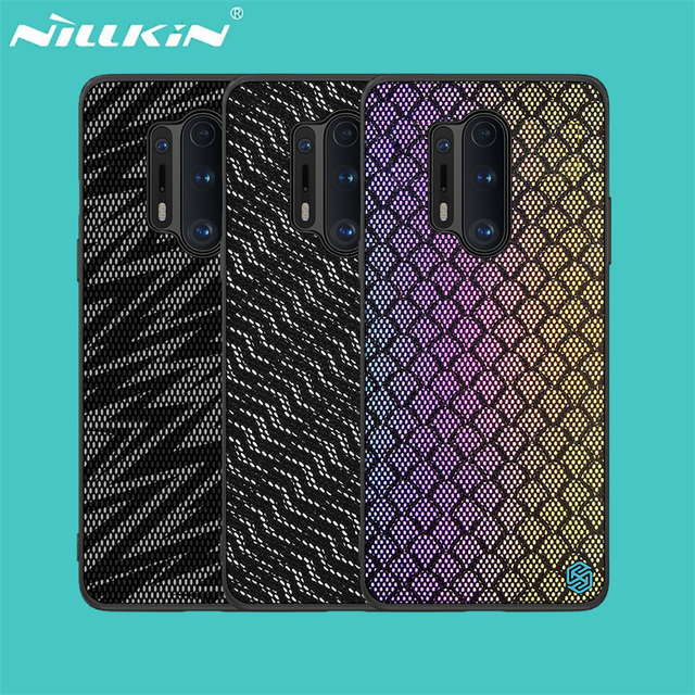 For OnePlus 8 Pro Case OnePlus 8 Cover NILLKIN Twinkle Case Polyester Mesh Reflective Protector Back Cover for One Plus 8 Pro