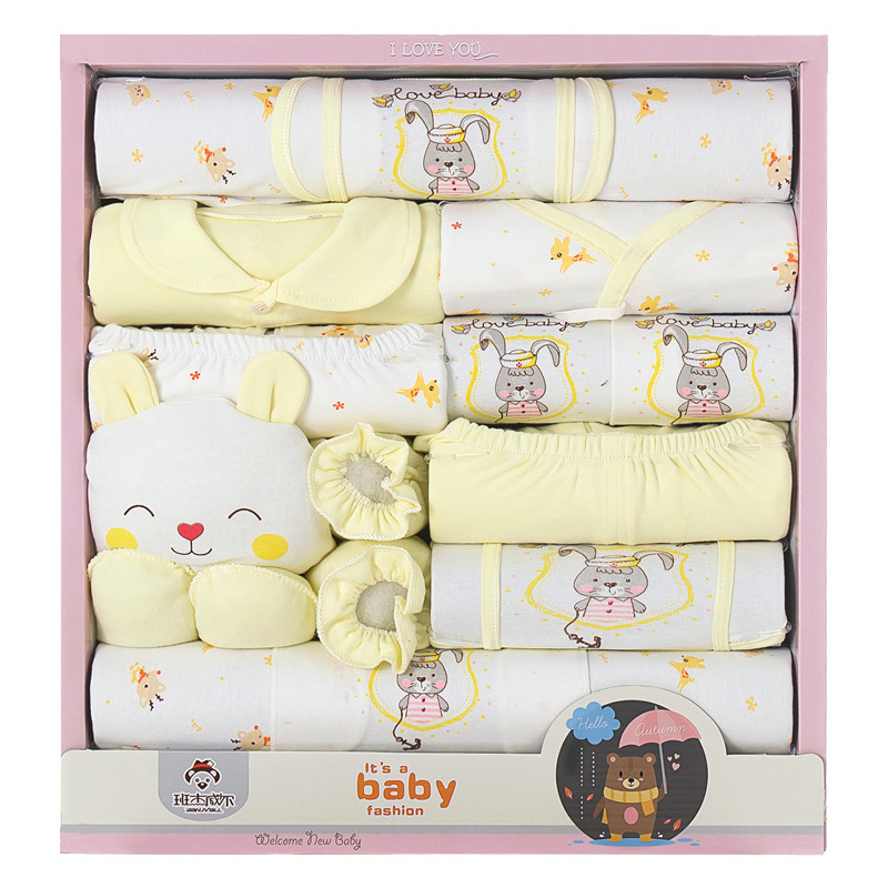 Newborns Gift Box Spring And Summer Infant Cotton Clothes Underwear Suit 0-3-Month Baby Supplies Primary BABY'S FIRST Month Cere