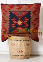 knot pillow Contracted Kilim Throw Cover Handmade Beautiful Flowers Wool Fancy Decorative