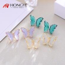 Hongye элегантные модные милые серьги гвоздики с хрустальными